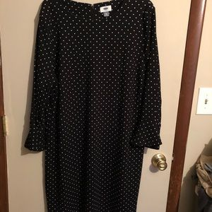 Old Navy Black & White Polka Dot Dress NEW